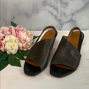 Coclio black leather sling back mule size 41